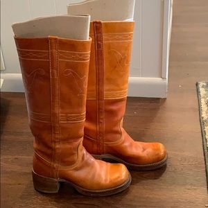 Frye Campus Stitching Pull on Riding Boots